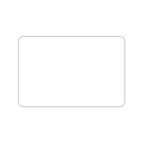 Etiquette blanche vierge sans pique 7 x 10 cm par 10