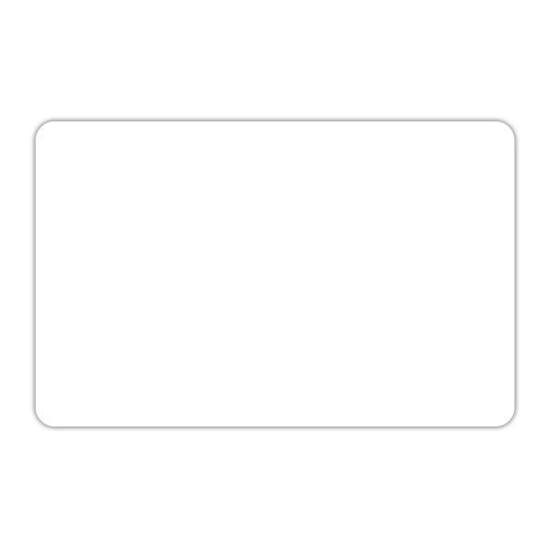 Etiquette blanche vierge sans pique 12 x 8 cm par 10