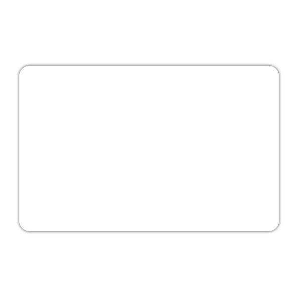Etiquette blanche vierge sans pique 10 x 15 cm par 10
