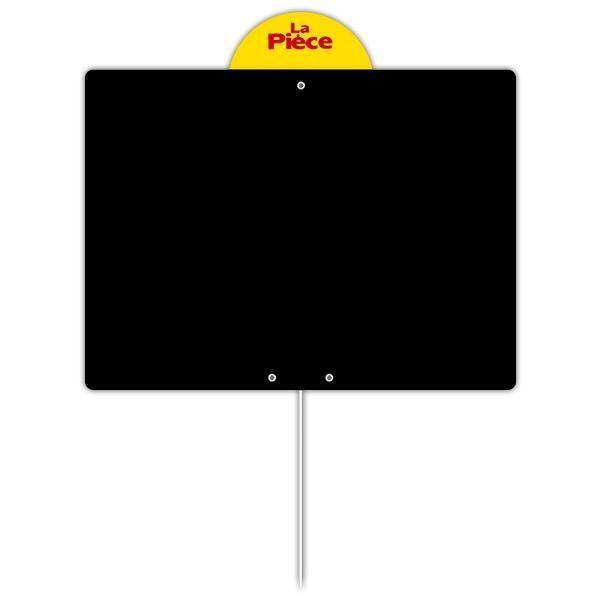Ardoise vierge avec disque et pique inox 20 x 15 cm par 10 (photo)