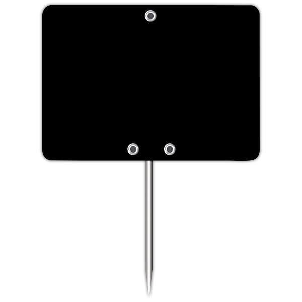 Ardoise vierge avec pique inox 7 x 5 cm par 10 (photo)