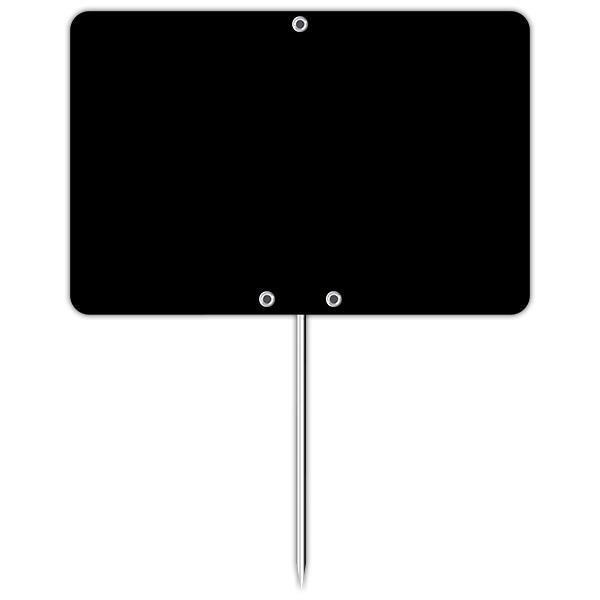 Ardoise vierge avec pique inox 10 x 7 cm par 10 (photo)