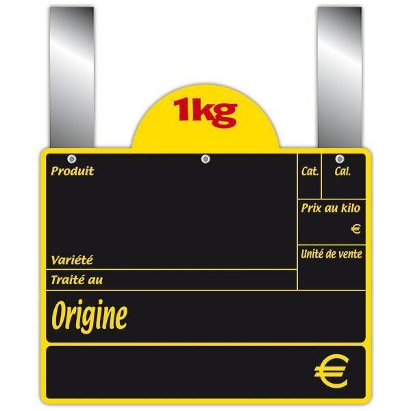 Ardoise variété avec disque conditionnement et pattes 15 x 12 cm par 10 (photo)