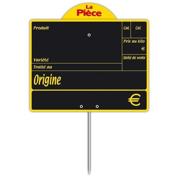 Ardoise variété avec disque conditionnement et pique 15 x 12 cm par 10 (photo)