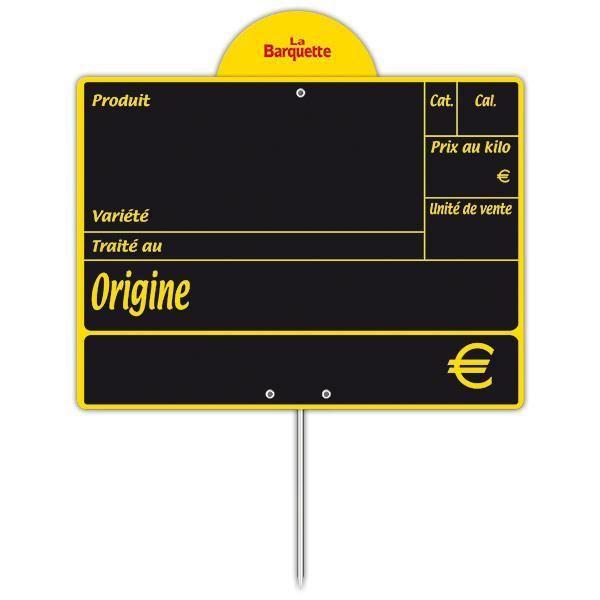 Ardoise variété avec disque conditionnement et pique 20 x 15 cm par 10 (photo)