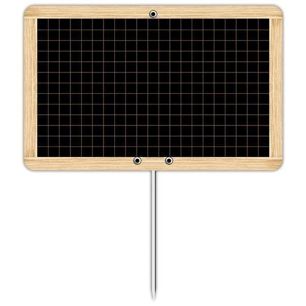 Ardoise d'antan à pique inox 12 x 8 cm par 10 (photo)