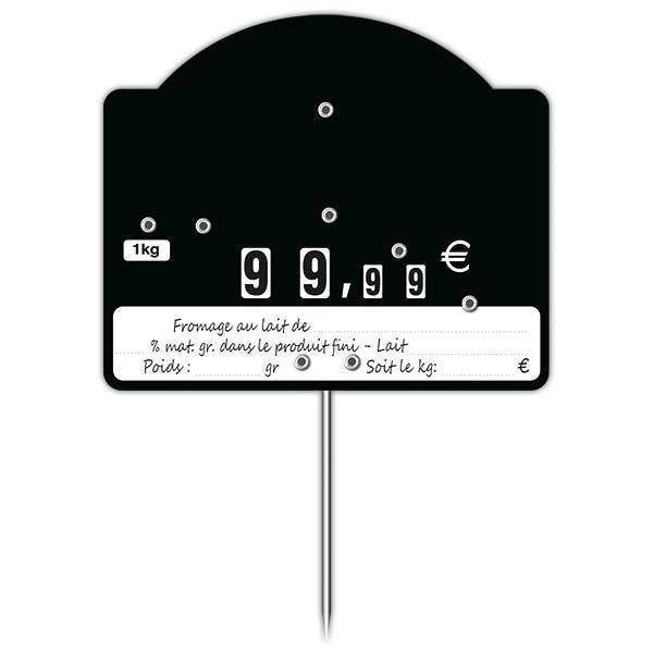 Etiquette trad'etiq contact top noire + % mg à roues par 10 (photo)