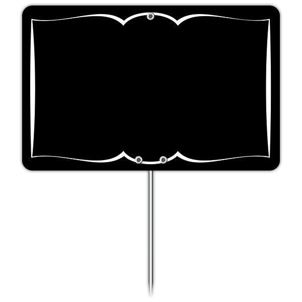 Etiquette ardoisine autrefois noire à liseré 12 x 8 cm pique par 10 (photo)