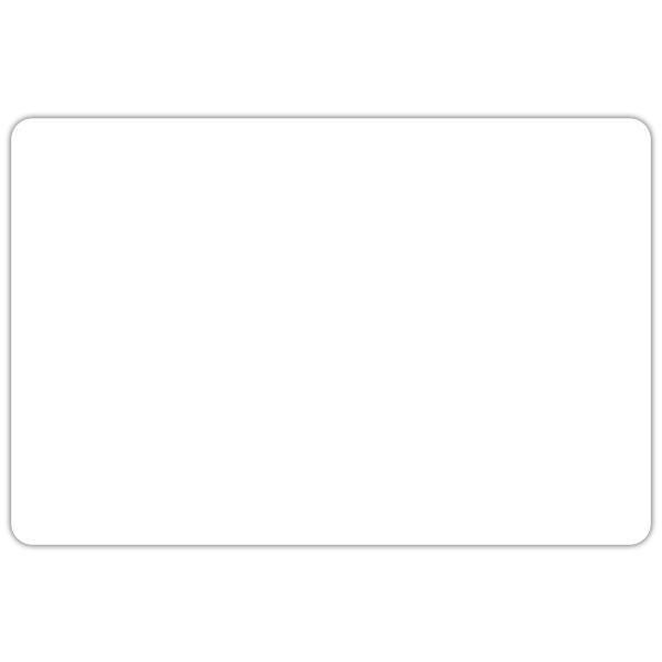 Etiquette etal délice blanches 6 x 4 cm oar sachet de 10 (photo)