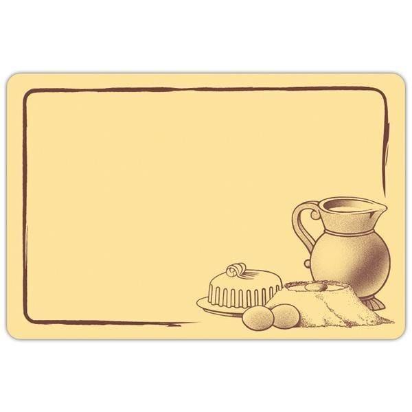 Etiquettes Etal délice pot de lait crème motif marron 6x4 par sachet de 10