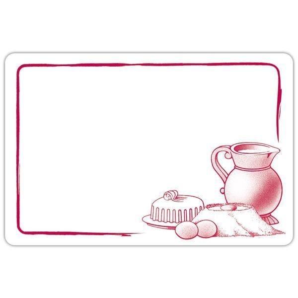 Etiquette etal délice pot de lait blanc motif bordeaux 6 x 4 cm par 10 (photo)