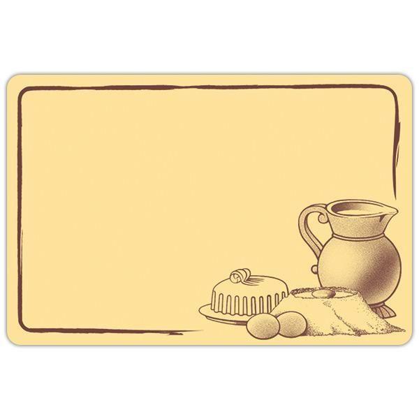 Etiquette etal délice pot de lait crème motif marron 8 x 6 cm par 10 (photo)