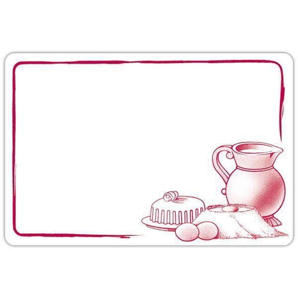 Etiquette etal délice pot de lait blanc motif bordeaux 8 x 6 cm par 10 (photo)