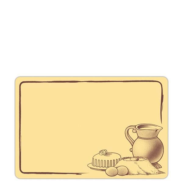 Etiquette etal délice pot de lait crème motif marron 7 x 10 cm par 10 (photo)