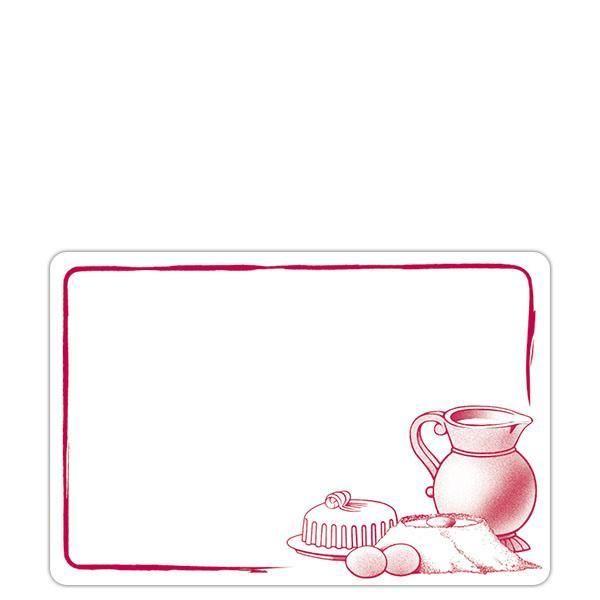 Etiquette etal délice pot de lait blanc motif bordeaux 7 x 10 cm par 10 (photo)