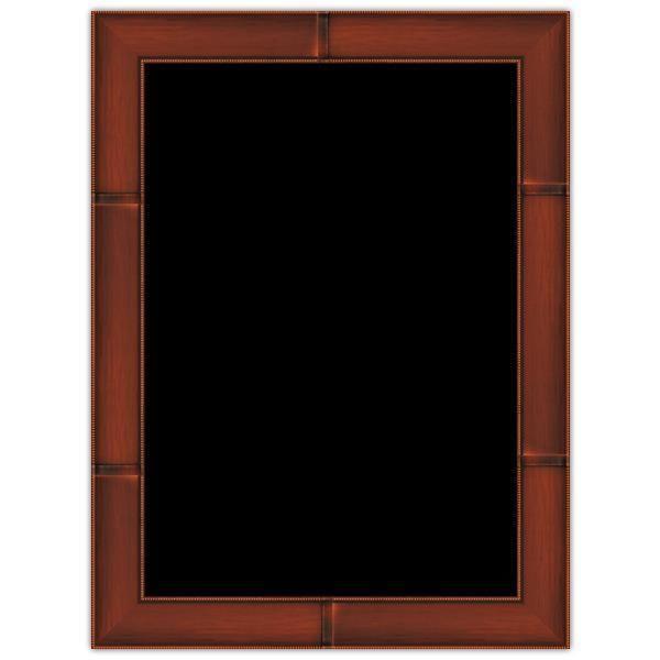 Panneau vierge Merisier cadre imprimé 30 x 40 cm (photo)