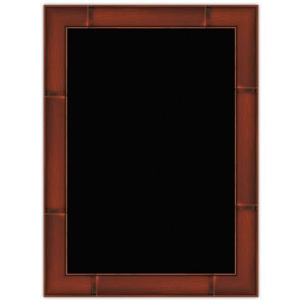 Panneau vierge Merisier cadre imprimé 44 x 60 cm (photo)