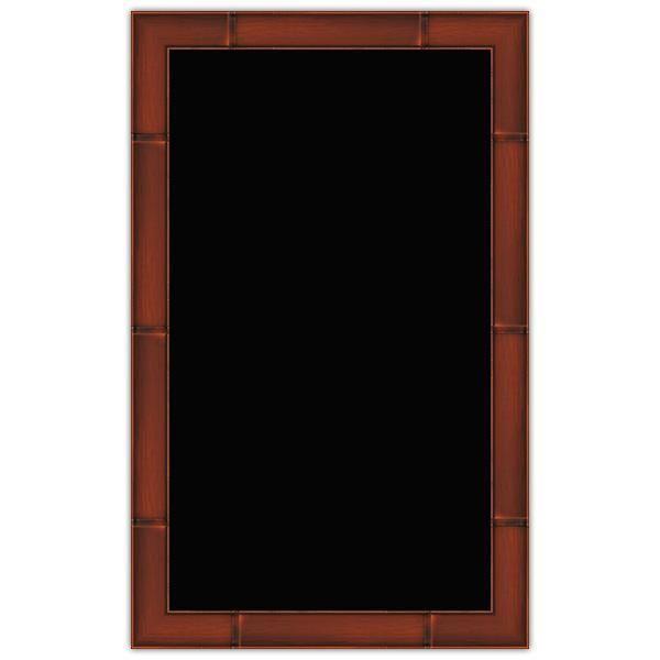 Panneau vierge merisier cadre imprimé 50 x 80 cm