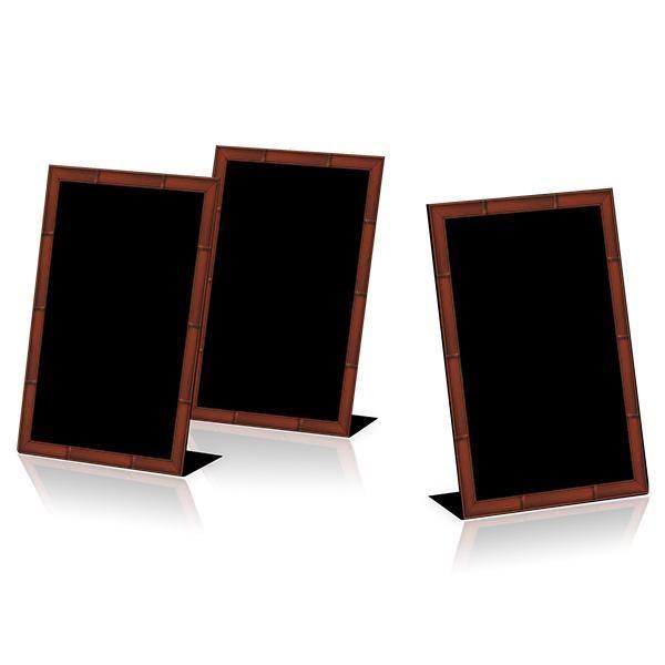 Chevalet de table Merisier cadre imprimé Par 3 (photo)