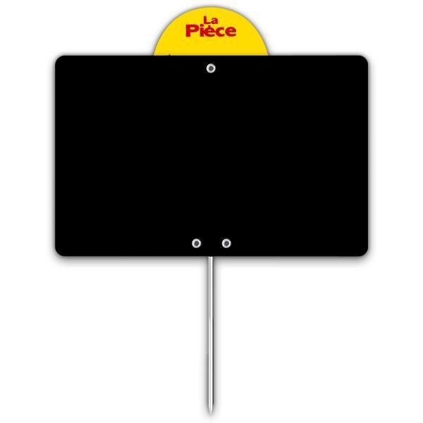 Etiquette ardoise noire épaisse calipro à pique à disque 12 x 8 cm par 10 (photo)