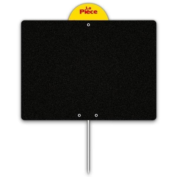 Etiquette ardoise noire épaisse calipro à pique à disque 10 x 15 cm par 10 (photo)