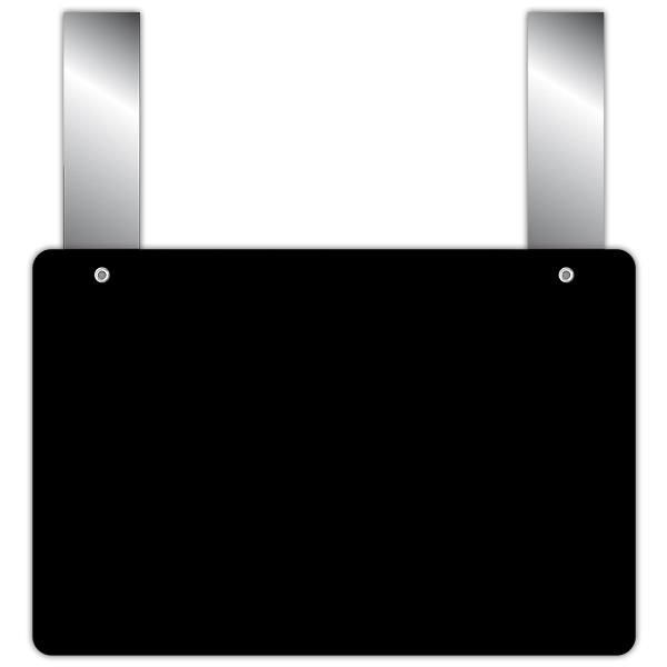 Etiquette ardoise noire épaisse calipro à pattes 10 x 15 cm par 10 (photo)