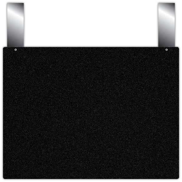 Etiquette ardoise noire épaisse calipro à pattes 32 x 24 cm par 10 (photo)