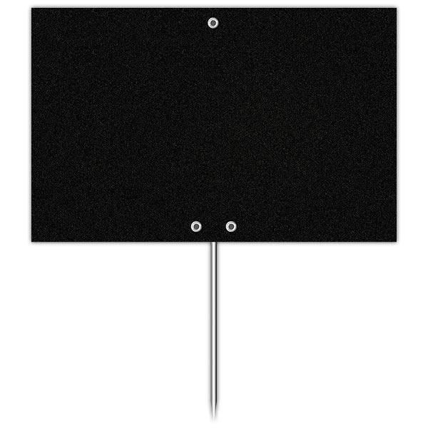 Etiquette ardoise noire épaisse calipro à pique 12 x 8 cm par 10 (photo)