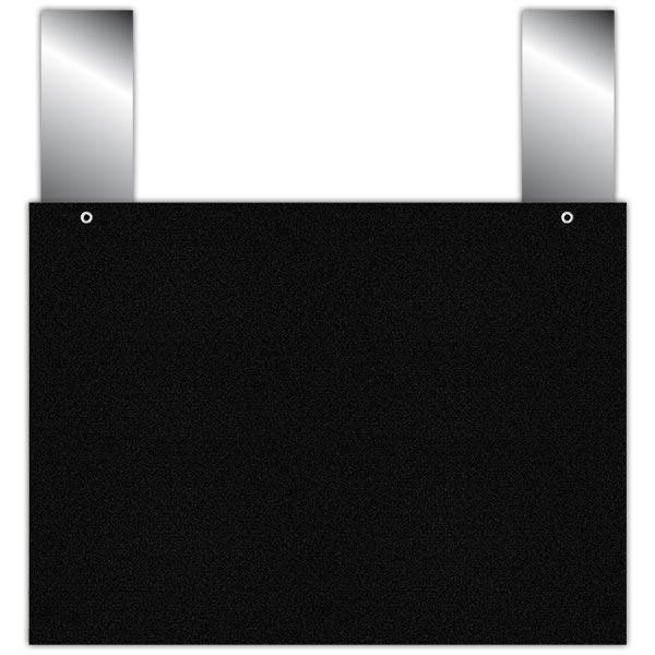 Etiquette ardoise noire épaisse à pattes 20 x 15 cm par 10 (photo)