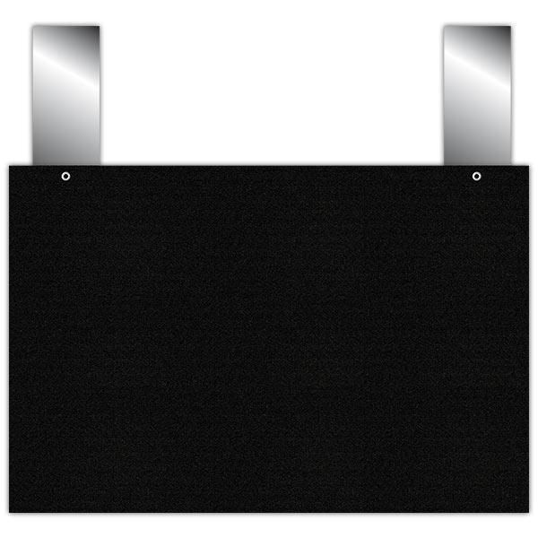 Etiquette ardoise noire épaisse calipro à pattes 24 x 16 cm par 10 (photo)