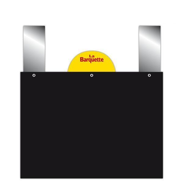 Etiquette ardoise noire épaisse à pattes et disque 20 x 15 cm par 10 (photo)