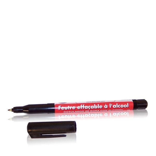 Feutre noir effaçable à l'alcool pointe fine par 10 (photo)