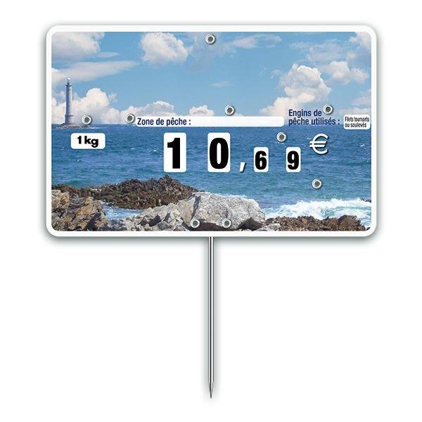 Etiquettes trad'etiq n°3 phare à pique avec roue mode de pêche (photo)