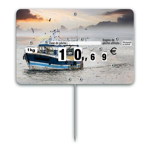 Etiquettes trad'etiq n°3 chalut à pique avec roue mode de pêche (photo)