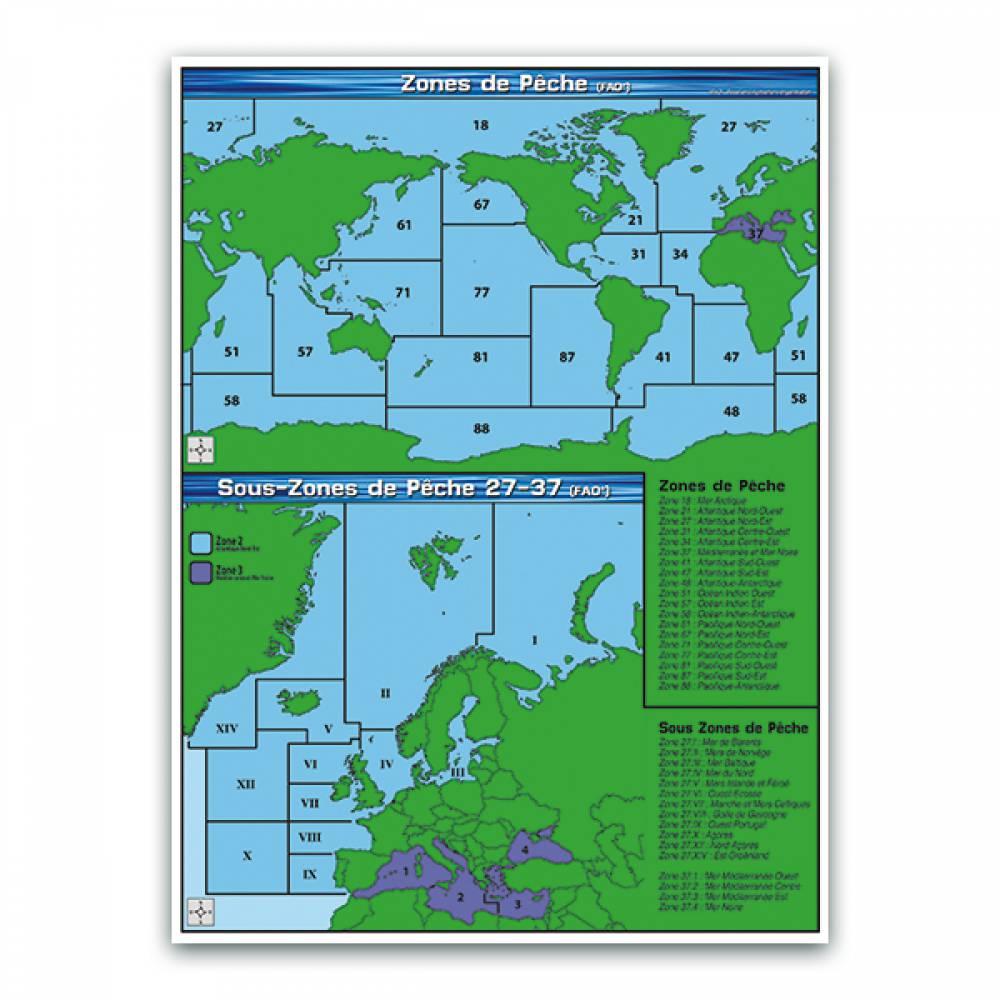 Panneau zones et sous-zones de pêche (fao) (photo)