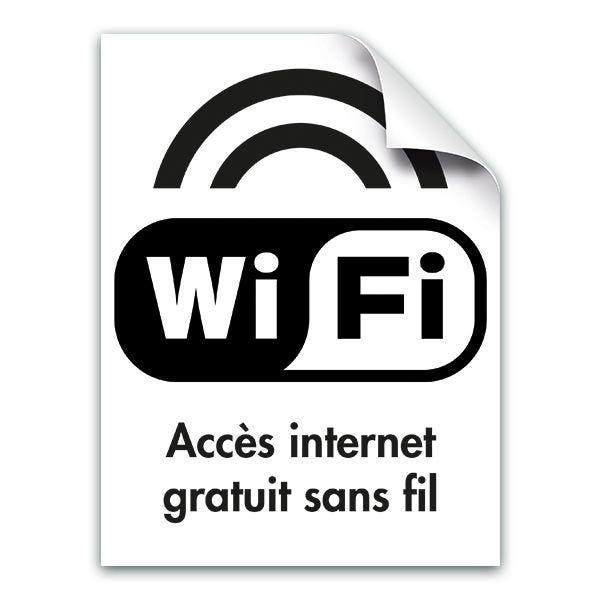 Adhésif wifi pour vitrine (photo)