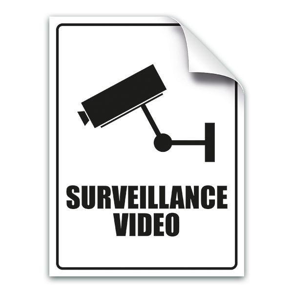 Adhésif surveillance vidéo pour vitrine (photo)