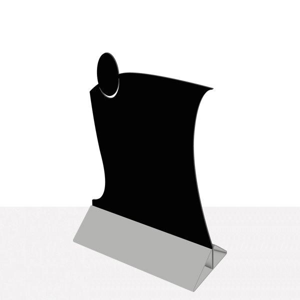 Chevalet de table service dibond noir - par 2