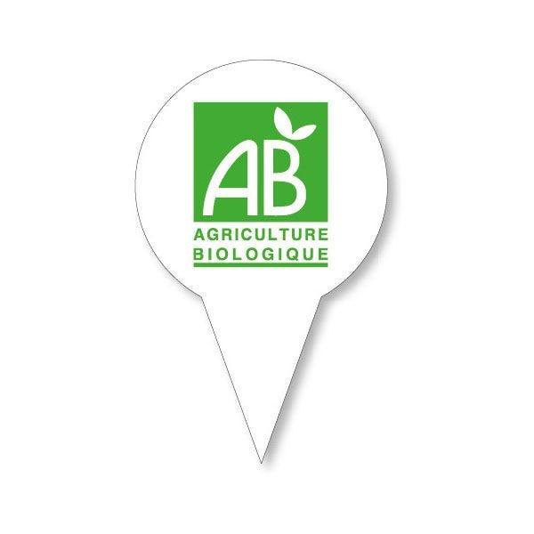 Etiquettes avec pique en forme gm ab (photo)
