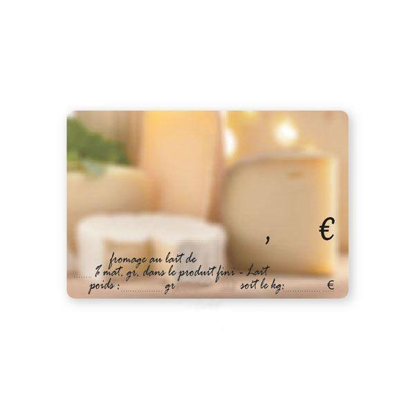 Etiquettes crémerie etal fromage 10 x 7 cm (photo)