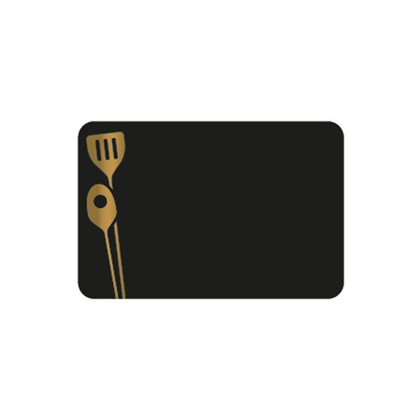 Etiquettes etal délice ustensiles 10x7cm (photo)