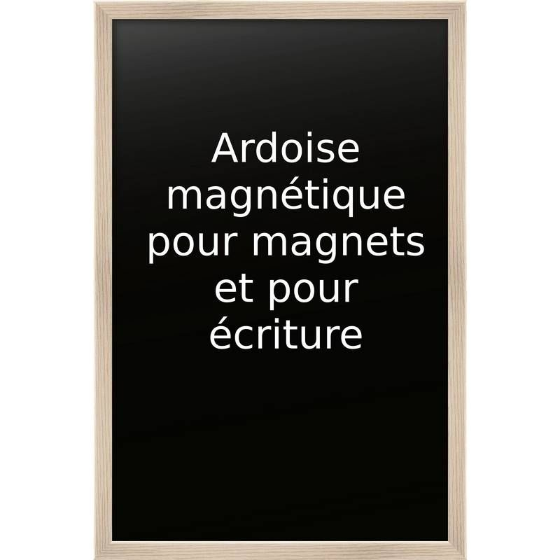 Ardoise nature 60 x 90 cm base magnétique