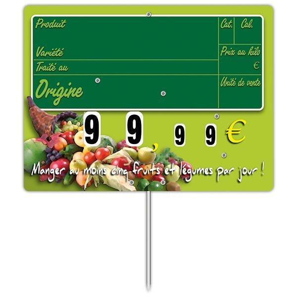 Etiquette new panier garni vocc à roues et à pique 20 x15 cm - par 30 (photo)