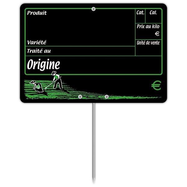 Etiquette dans les champs vocc à pique 15 x 10 cm - par 50 (photo)