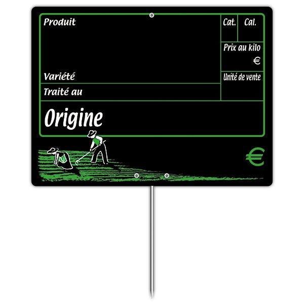 Etiquette dans les champs vocc à pique 20 x 15 cm - par 30 (photo)