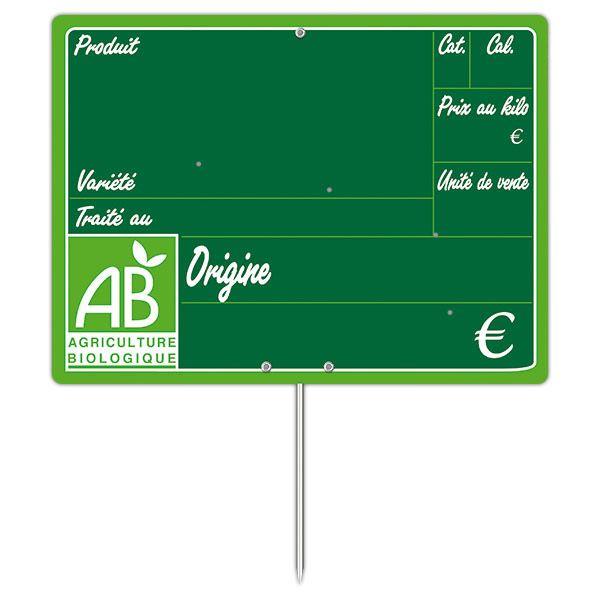 Etiquette bio primeur vocc à pique 20 x 15 cm - par 30 (photo)