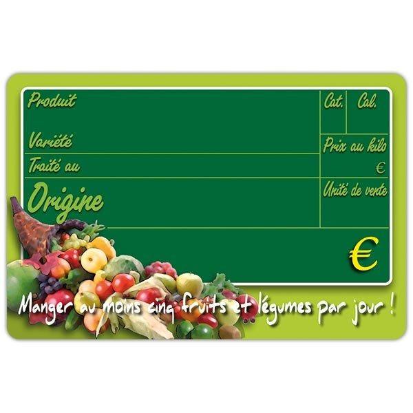Etiquette new panier garni vocc 15 x 10 cm - par 50 (photo)