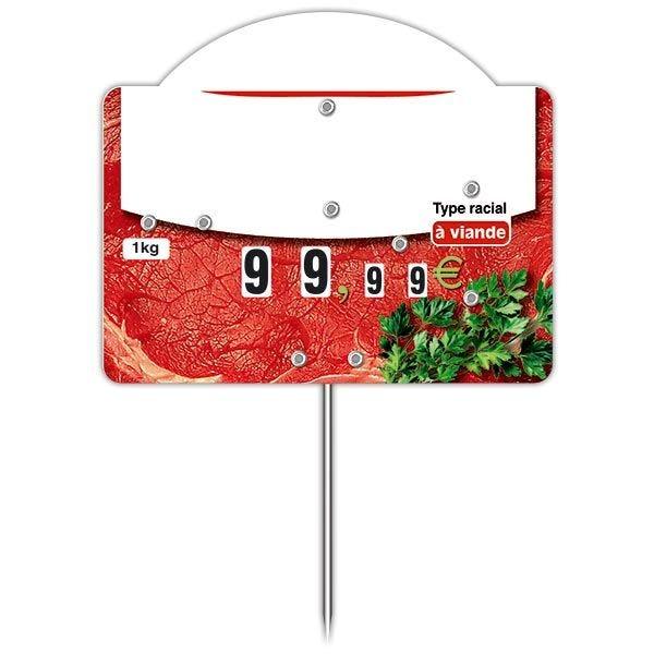 Etiquette trad'etiq top votre pièce de viande type racial - par 50 (photo)