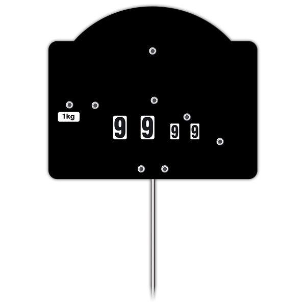 Etiquette contact top noire à roues et à pique - par 50 (photo)