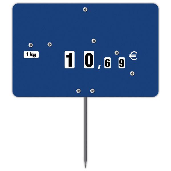 Etiquette contact bleu à roues et à pique n°3 - par 50 (photo)
